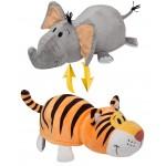 Вывернушка 40 см 2в1 Тигр-Слон