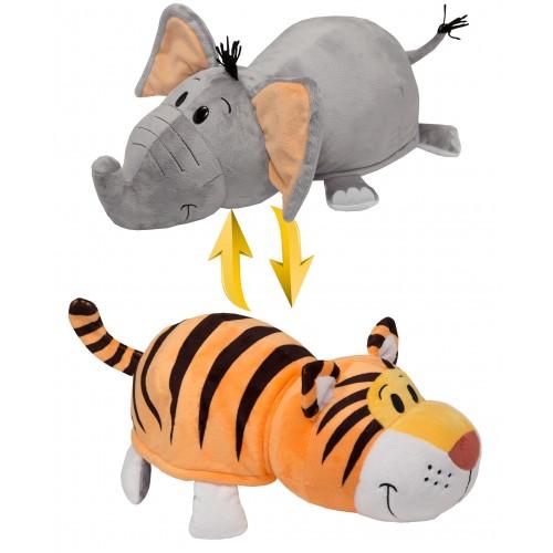 Вывернушка 40 см 2в1 Тигр-Слон 1TOY Т10931