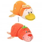 Вывернушка Ням-Ням 2-в-1 40 см. Морской котик с ароматом клубники-Пингвинчик с ароматом апельсиновой газировки
