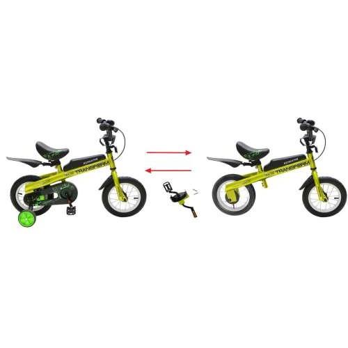 Велосипед / Беговел 2в1, 12д. Transform зеленый Navigator (Навигатор)
