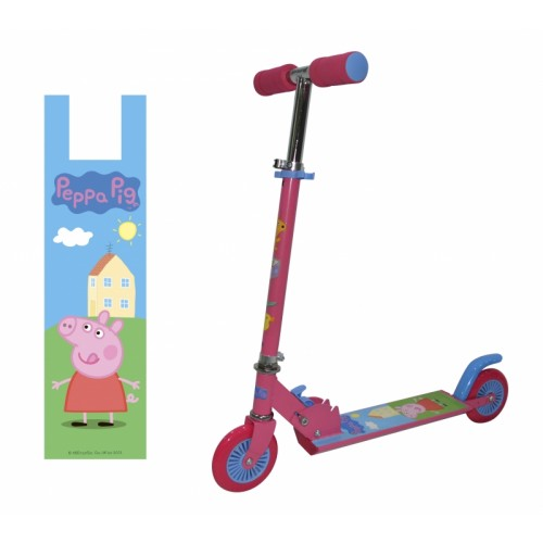 Cамокат Peppa 2х колесный 125мм розовый 1TOY