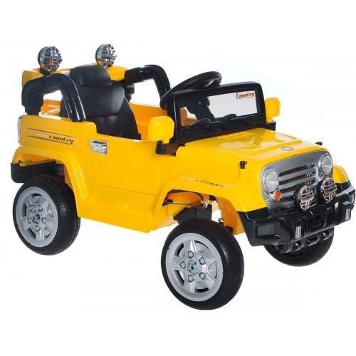 Электромобиль Джип желтый 1TOY