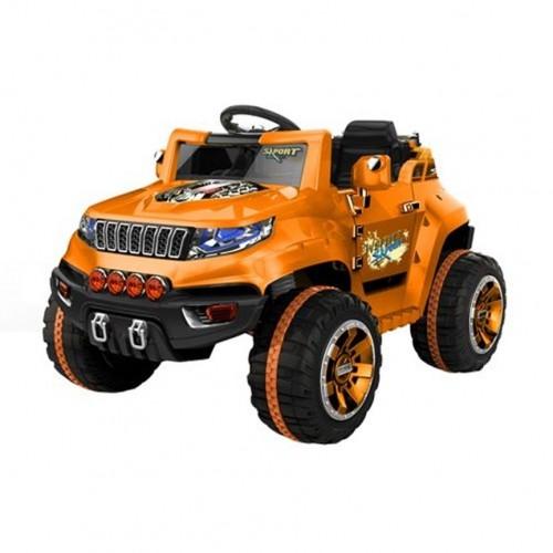 Электромобиль Джип оранжевый 1TOY