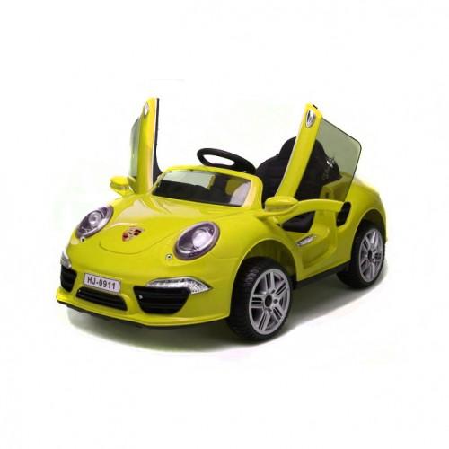 Электромобиль Порше 911 желтый 1TOY