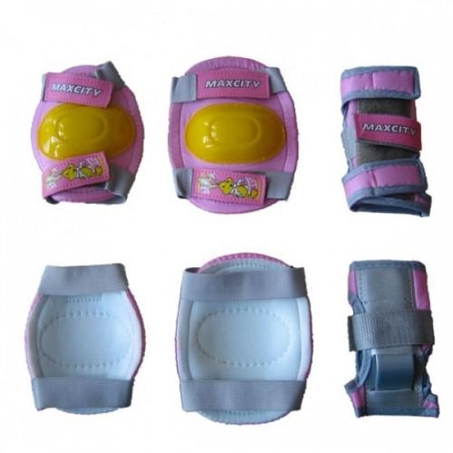 Комплект защиты MaxCity Game L (розовый)