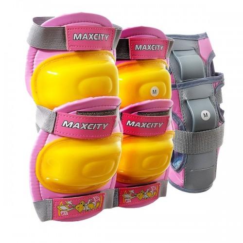 Комплект защиты MaxCity Little Rabbit L (розовый)