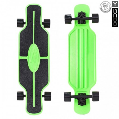 "Лонгборд Y-Scoo Fish Skateboard TIR 31"" с сумкой (black/green)"