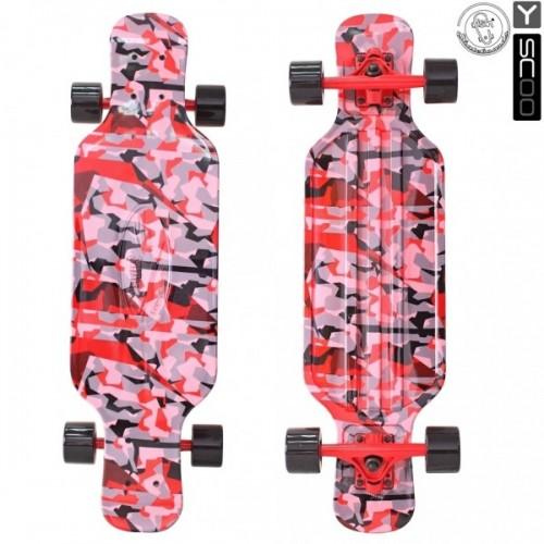 "Лонгборд Y-Scoo Fish Skateboard TIR 31"" с сумкой (chaos)"