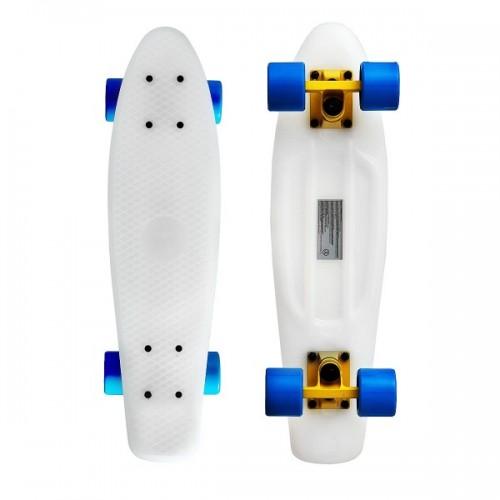 "Мини-круизер Fish Skateboards 22"" (бело-синий)"