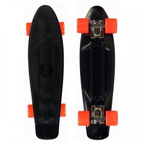"""Мини-круизер Fish Skateboards 22"""" (черный/оранжевый)"""
