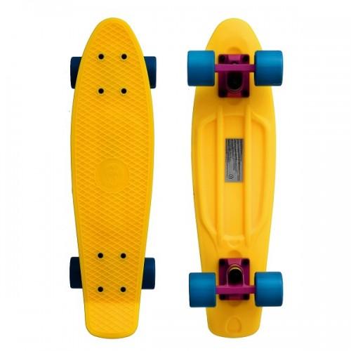 "Мини-круизер Fish Skateboards 22"" (желто-голубой)"