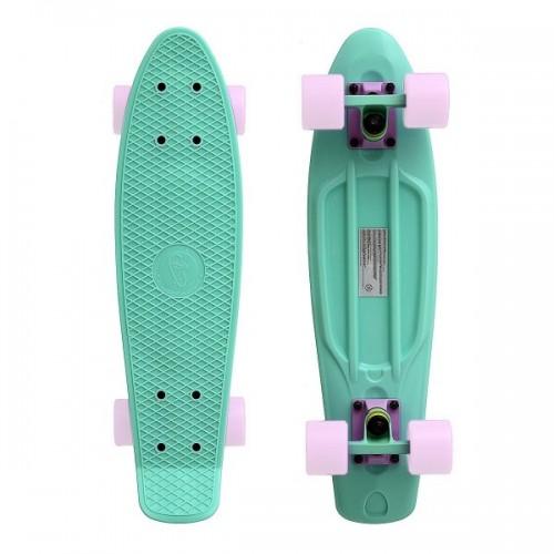 """Мини-круизер Fish Skateboards 22"""" (мятный/белый)"""