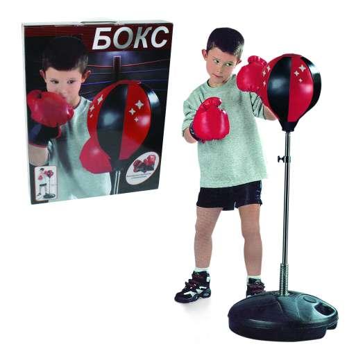 Набор для бокса, груша, база 32см, стойка 80-100см 1TOY