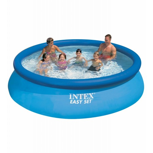 Надувной бассейн Easy Set 457х84см+фильтр-насос 220в.+DVD диск Intex (Интекс)