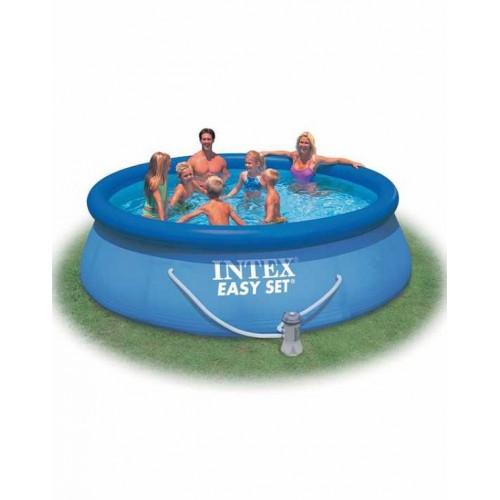 Надувной бассейн Easy Set 457х84см+фильтр-насос с аксессуарами Intex (Интекс)