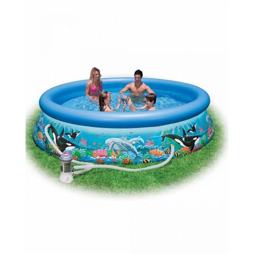 Надувной бассейн Easy Set Риф океана 305х76см+фильтр-насос 220в. Intex (Интекс)
