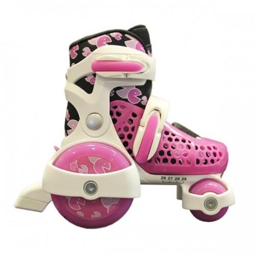 Роликовые коньки Explore Kinder Quad XS (розовый)