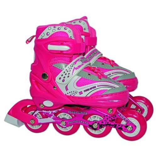 Роликовые коньки переднее колесо со светом S (30-33), розовые Navigator