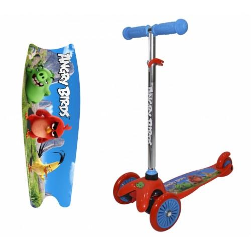Самокат 3х колесный Angry Birds управление наклоном 2х125/100 1TOY