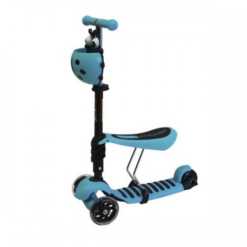 Самокат Ecoline Lotus с сиденьем (голубой)
