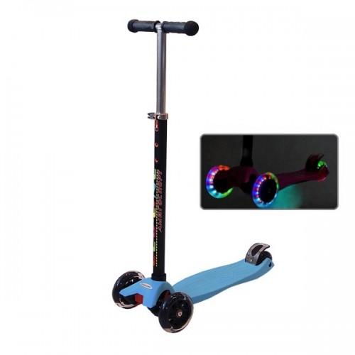 Самокат Ecoline Onex со светящимися колесами (голубой)