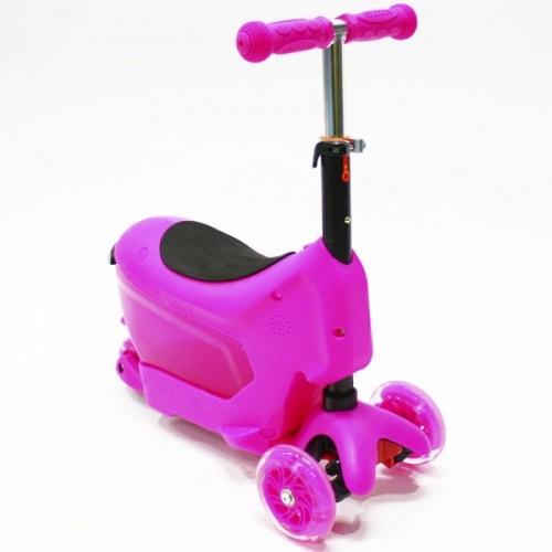 Самокат Hubster Comfort с сиденьем (розовый)