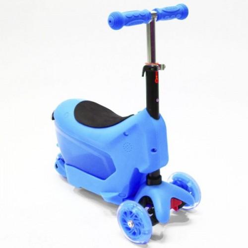 Самокат Hubster Comfort с сиденьем (синий)