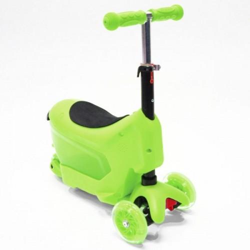 Самокат Hubster Comfort с сиденьем (зеленый)