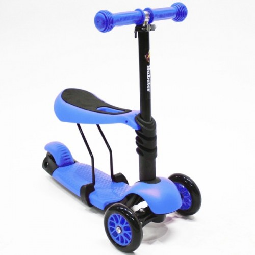 Самокат Hubster Lux с сиденьем (синий)