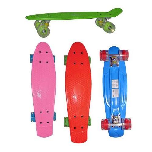 Скейт пластиковый 56х14,5см со светом Navigator